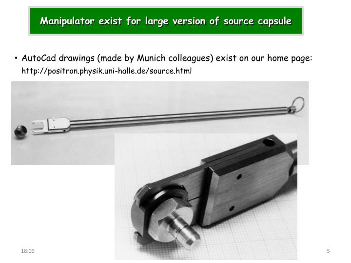 Manipulator exist for large version of source capsule