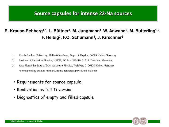 Source capsules for intense 22 na sources