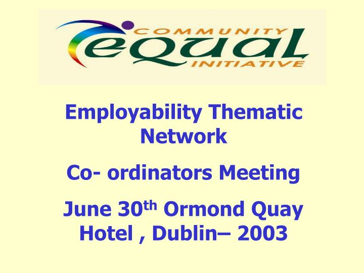 Employability Thematic Network
