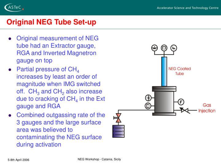 Original NEG Tube Set-up