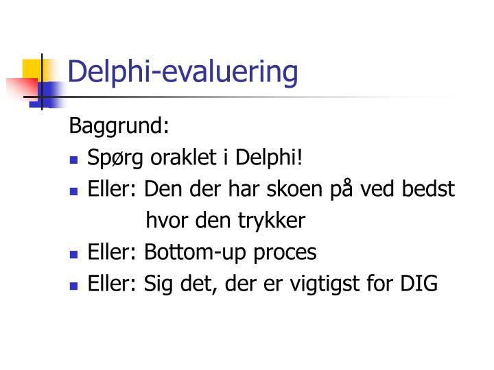 Delphi-evaluering