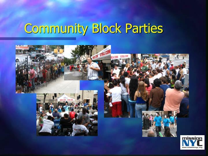 Community Block Parties