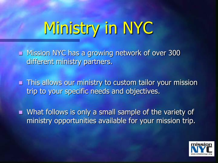 Ministry in nyc
