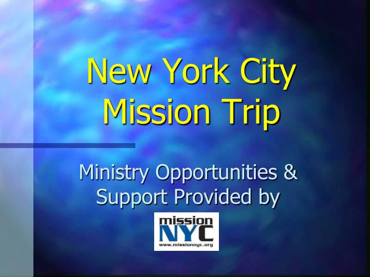 New york city mission trip