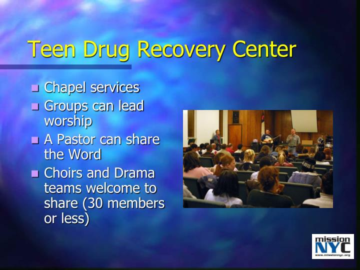 Teen Drug Recovery Center
