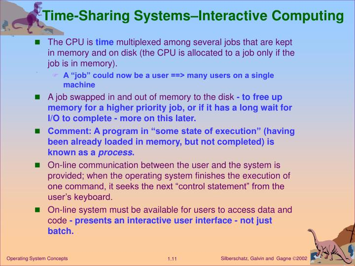 Time-Sharing Systems–Interactive Computing