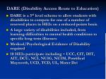 dare disability access route to education