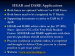 hear and dare applications