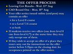 the offer process
