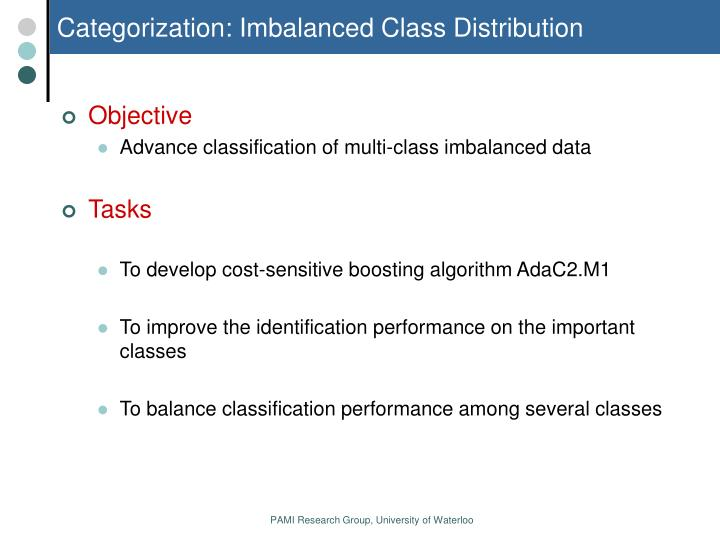 Categorization: Imbalanced Class Distribution