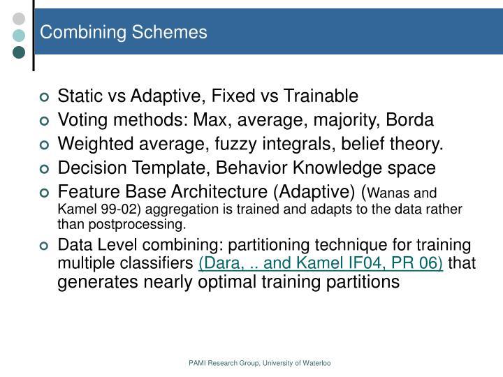 Combining Schemes