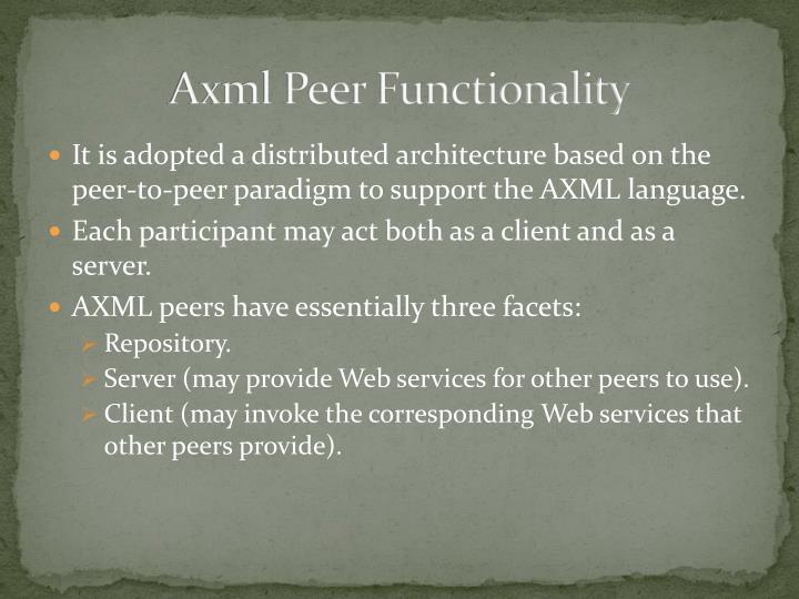 Axml Peer Functionality