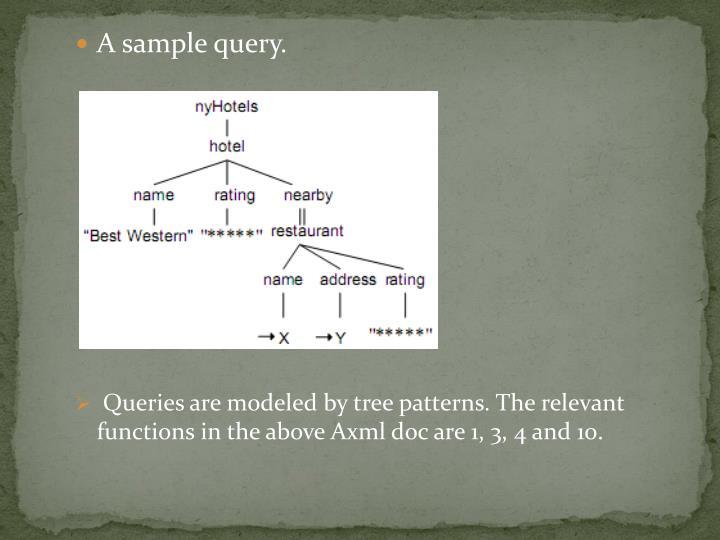 A sample query.