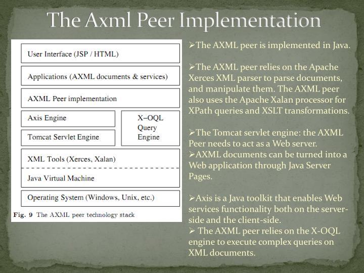 The Axml Peer Implementation
