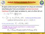 analysis method b yields extraction