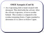 osee synopsis cont d