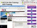 acti on site training ace training