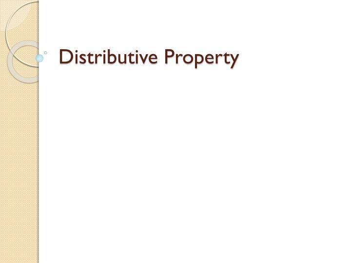 distributive property n.