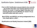 qualification system establishment of qqi