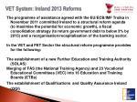 vet system ireland 2013 reforms