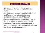 foreign demand