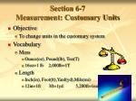 section 6 7 measurement customary units