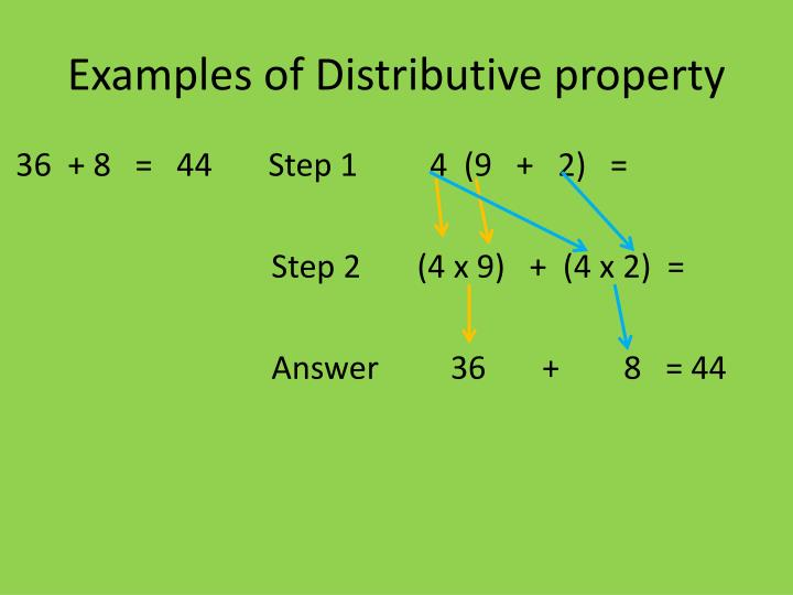 Examples of Distributive property