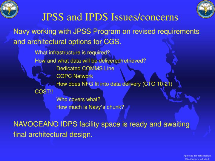 JPSS and IPDS Issues/concerns
