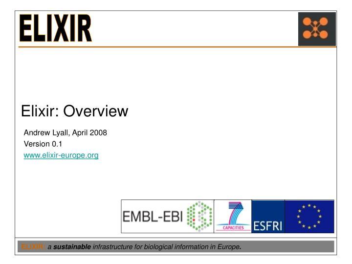 elixir overview n.