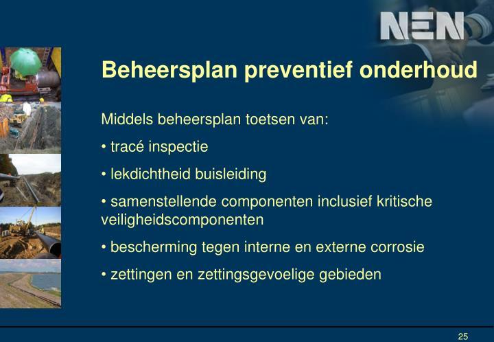 Beheersplan preventief onderhoud