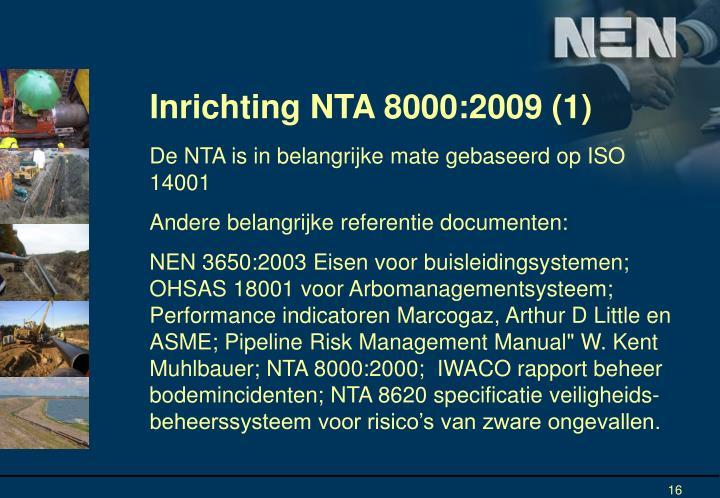 Inrichting NTA 8000:2009 (1)