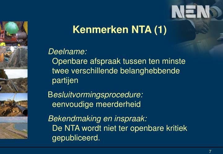 Kenmerken NTA (1)