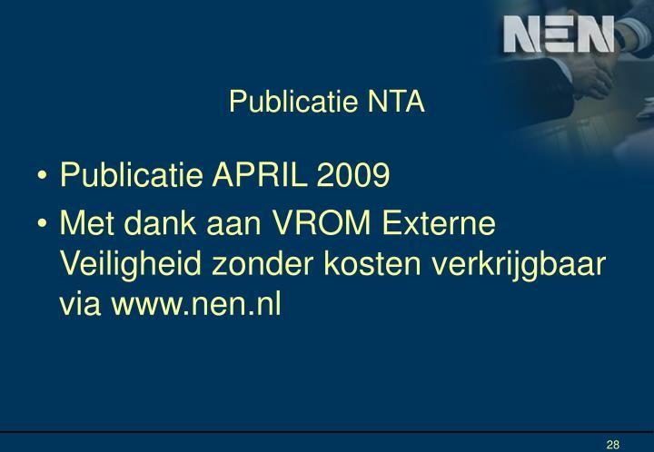 Publicatie NTA