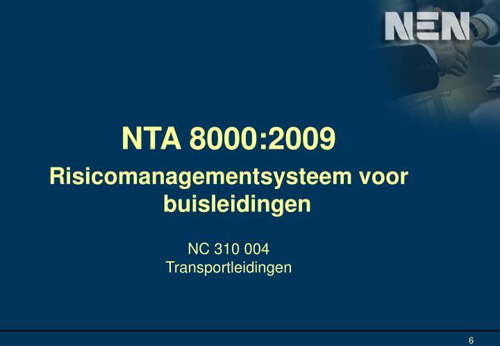 NTA 8000:2009