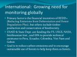 international growing need for monitoring globally