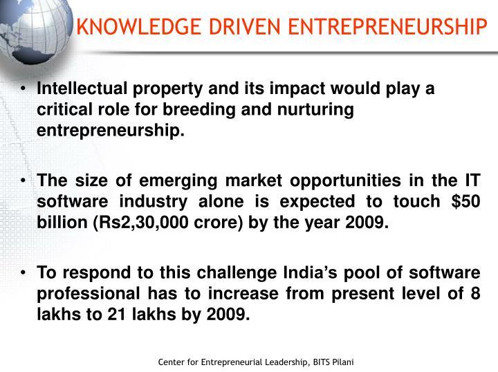 Knowledge driven entrepreneurship