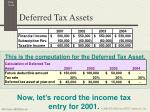deferred tax assets1