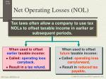 net operating losses nol