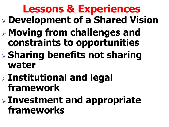 Lessons & Experiences