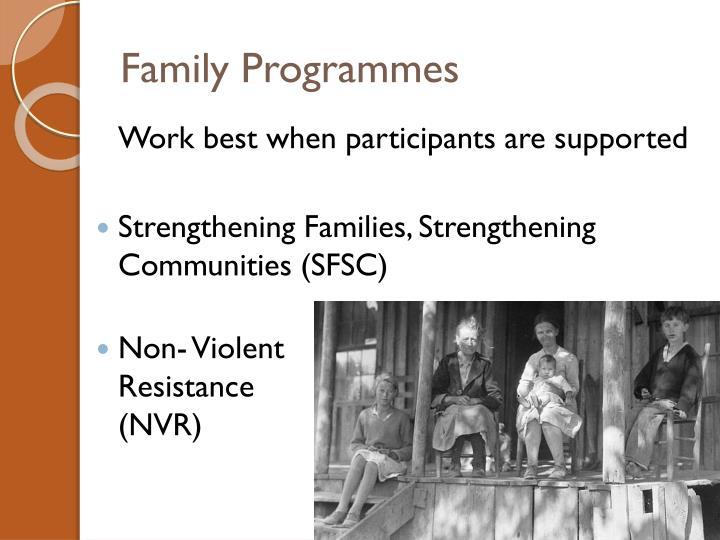 Family Programmes