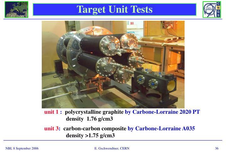 Target Unit Tests