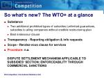 so what s new the wto at a glance