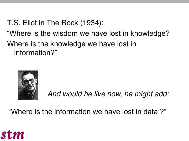 T.S. Eliot in The Rock (1934):