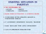 existing situation in pakistan