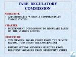fare regulatory commission
