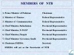 members of ntb