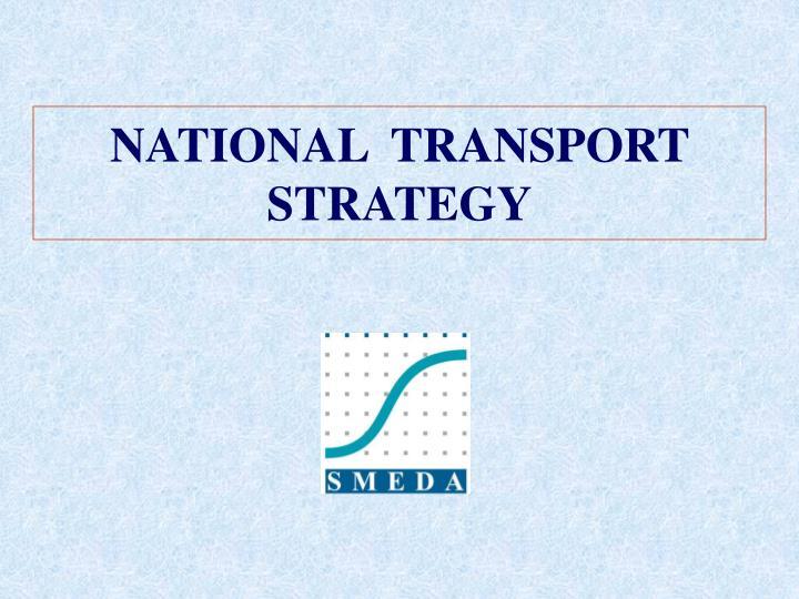national transport strategy