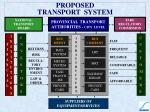 proposed transport system