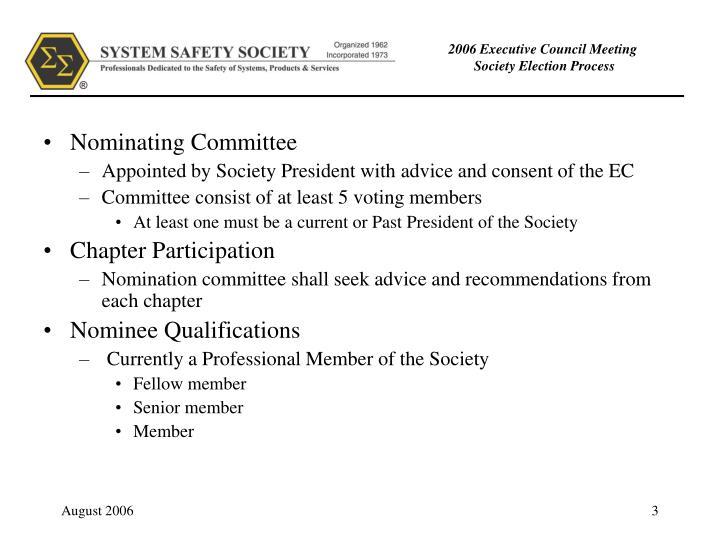 2006 executive council meeting society election process1