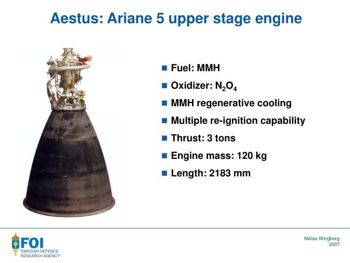 Aestus: Ariane 5 upper stage engine